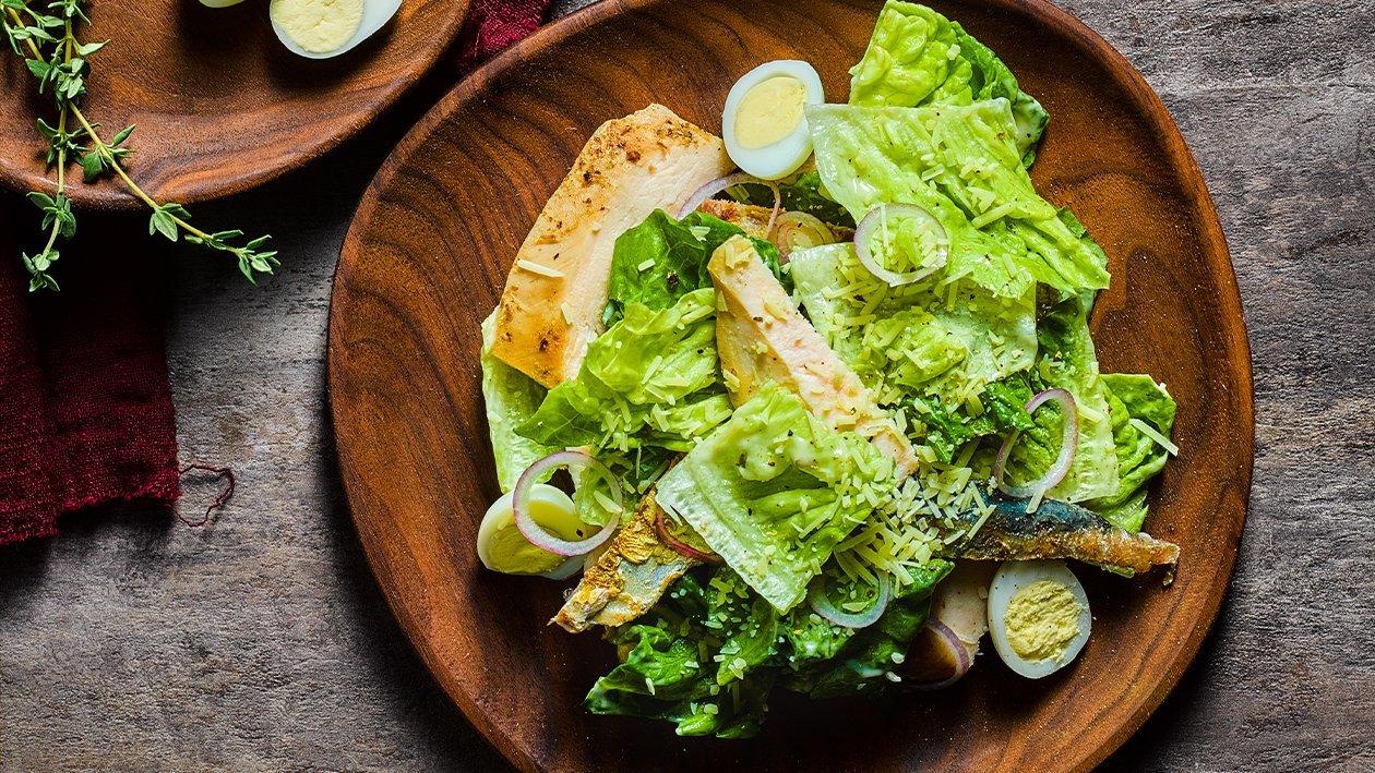 Kana-Caesartäyte, kylmävalmistus – Resepti