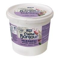 Crème Bonjour Valkosipuli Laktoositon tuorejuusto 1,5 kg -
