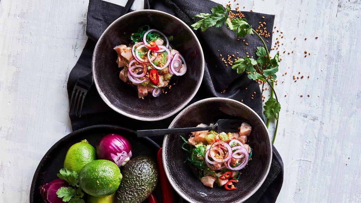 Aasialainen ceviche-lohi – Resepti