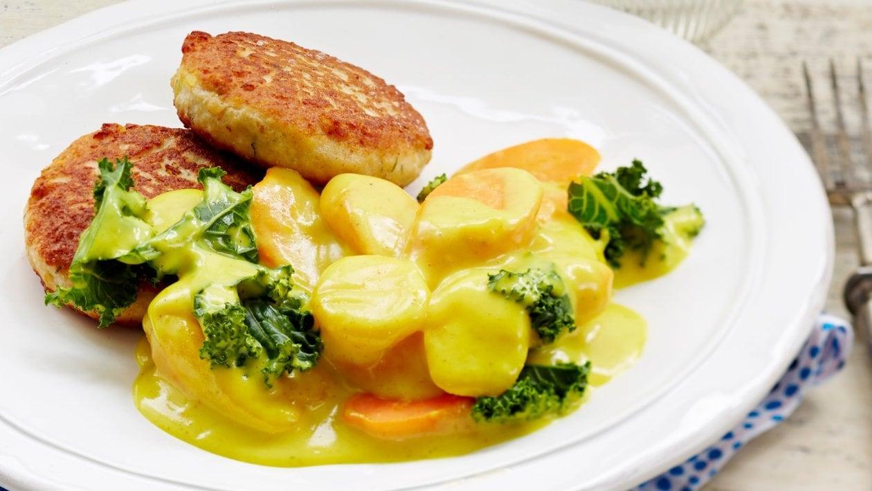 Currymuhennettua porkkanaa ja pinaattia – Resepti