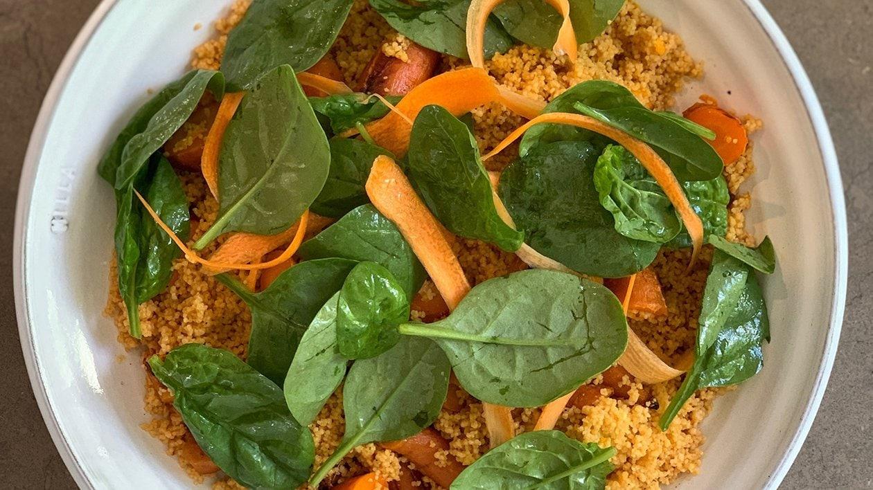 Porkkana- ja inkivääribulgur appelsiinin kera F50 – Resepti