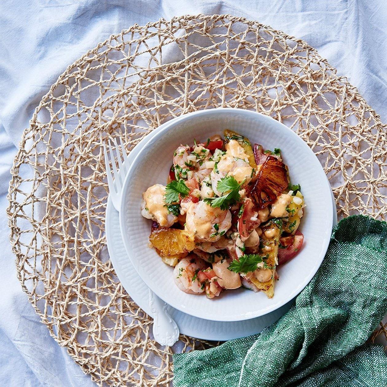 Havaijilainen katkarapusalaatti – Resepti
