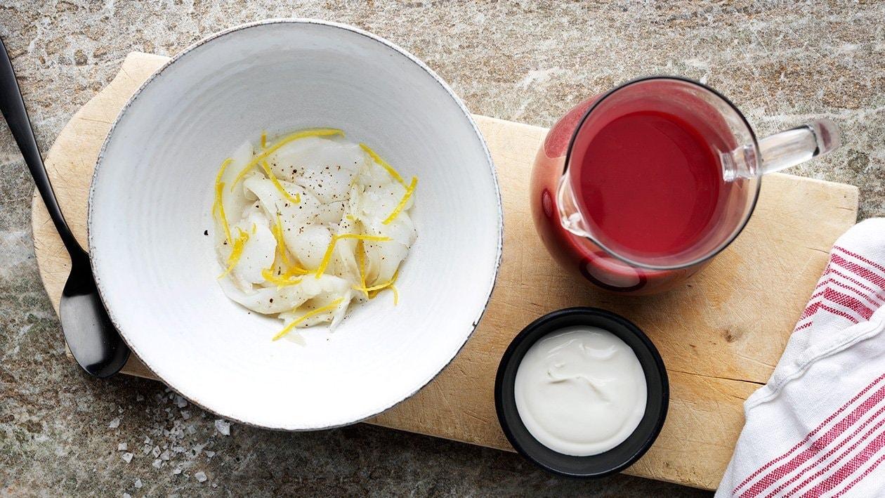 Punajuurikeittoa ja turskaa – Resepti